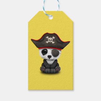 Cute Baby Panda Pirate Gift Tags