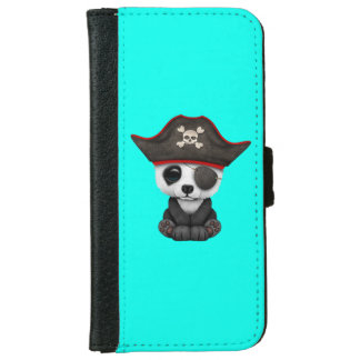 Cute Baby Panda Pirate iPhone 6 Wallet Case