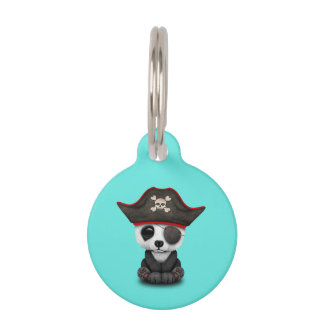 Cute Baby Panda Pirate Pet Tag