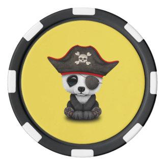 Cute Baby Panda Pirate Poker Chips