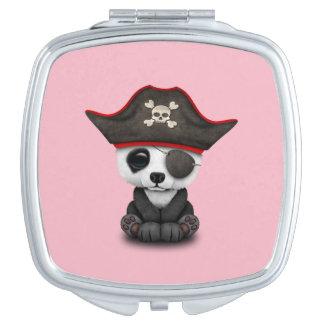 Cute Baby Panda Pirate Travel Mirror