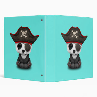 Cute Baby Panda Pirate Vinyl Binders