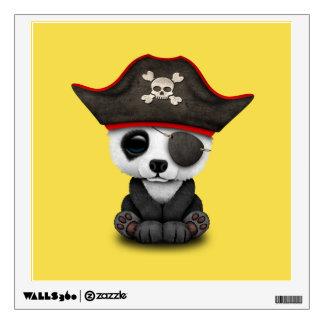 Cute Baby Panda Pirate Wall Sticker