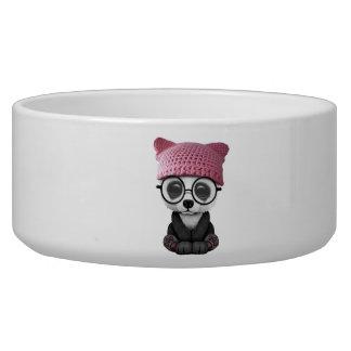 Cute Baby Panda Wearing Pussy Hat