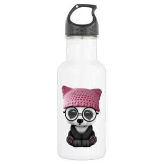 Cute Baby Panda Wearing Pussy Hat 532 Ml Water Bottle