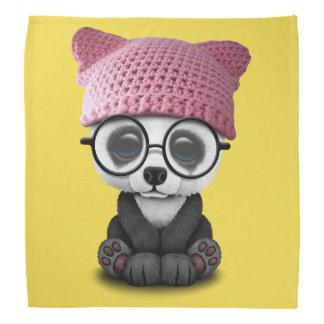 Cute Baby Panda Wearing Pussy Hat Bandana