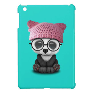 Cute Baby Panda Wearing Pussy Hat Case For The iPad Mini