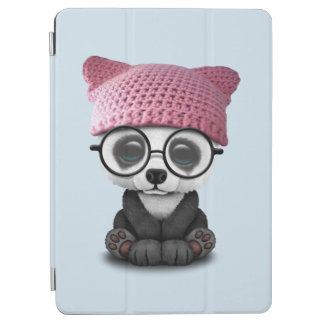 Cute Baby Panda Wearing Pussy Hat iPad Air Cover
