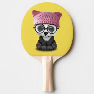 Cute Baby Panda Wearing Pussy Hat Ping Pong Paddle
