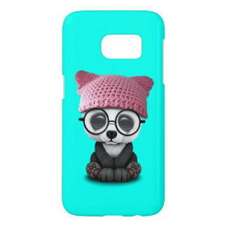 Cute Baby Panda Wearing Pussy Hat Samsung Galaxy S7 Case
