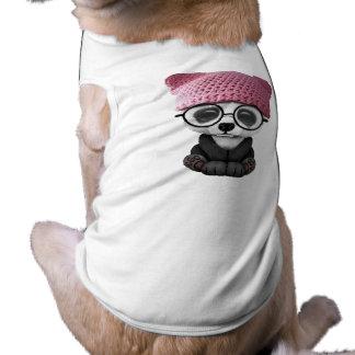 Cute Baby Panda Wearing Pussy Hat Shirt