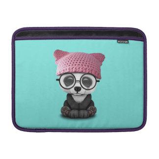 Cute Baby Panda Wearing Pussy Hat Sleeve For MacBook Air