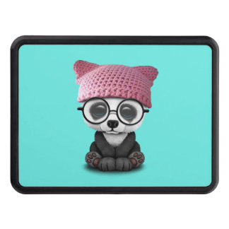Cute Baby Panda Wearing Pussy Hat Trailer Hitch Cover