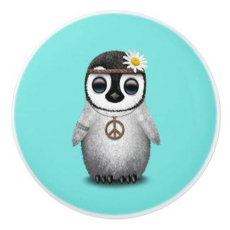 Cute Baby Penguin Hippie Ceramic Knob