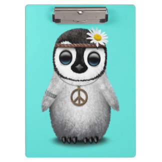 Cute Baby Penguin Hippie Clipboard