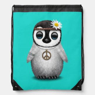 Cute Baby Penguin Hippie Drawstring Bag
