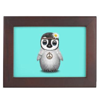 Cute Baby Penguin Hippie Memory Box