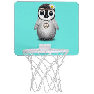 Cute Baby Penguin Hippie Mini Basketball Hoop