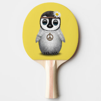 Cute Baby Penguin Hippie Ping Pong Paddle