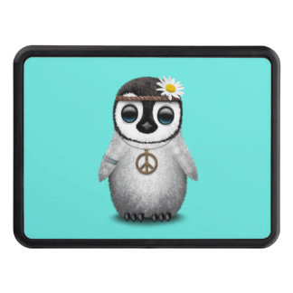 Cute Baby Penguin Hippie Trailer Hitch Cover