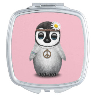 Cute Baby Penguin Hippie Travel Mirror