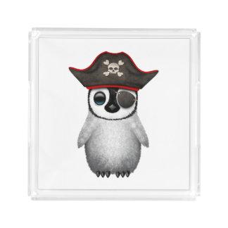 Cute Baby Penguin Pirate Acrylic Tray