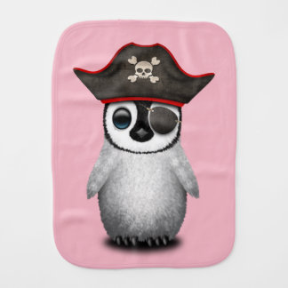 Cute Baby Penguin Pirate Burp Cloth