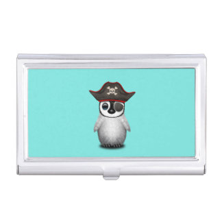 Cute Baby Penguin Pirate Business Card Holder