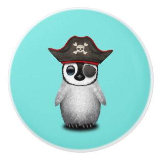 Cute Baby Penguin Pirate Ceramic Knob