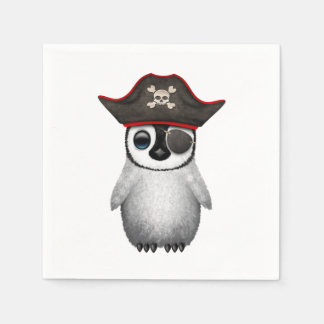 Cute Baby Penguin Pirate Disposable Napkins