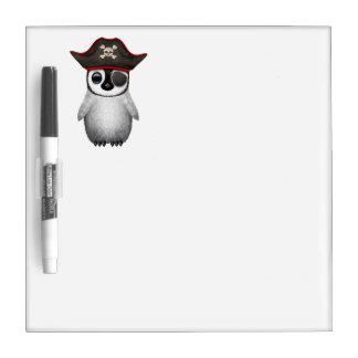 Cute Baby Penguin Pirate Dry Erase Board