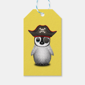 Cute Baby Penguin Pirate Gift Tags