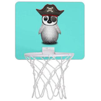 Cute Baby Penguin Pirate Mini Basketball Hoop
