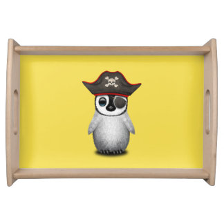 Cute Baby Penguin Pirate Serving Tray