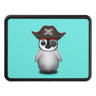 Cute Baby Penguin Pirate Trailer Hitch Cover