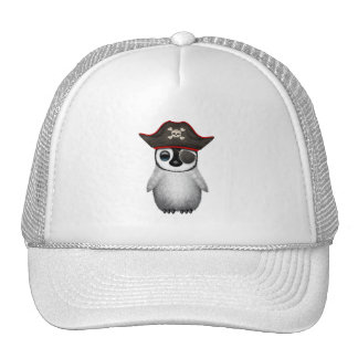 Cute Baby Penguin Pirate Trucker Hat