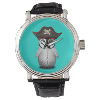 Cute Baby Penguin Pirate Watch