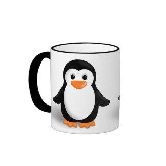 Cute Baby Penguin Ringer Mug
