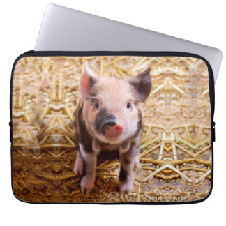 Cute Baby Piglet Farm Animals Babies Laptop Computer Sleeves
