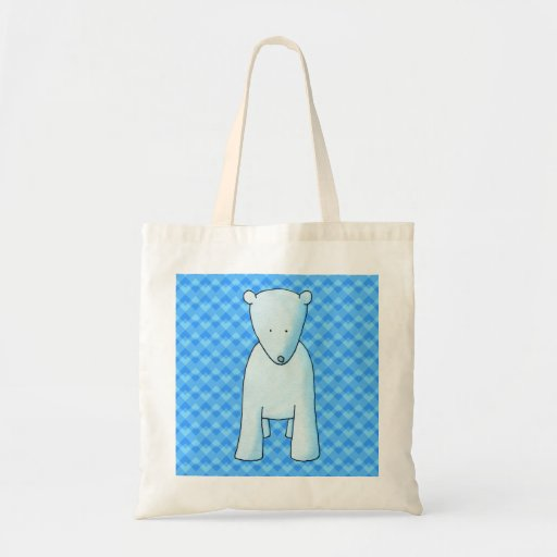Cute baby polar bear. bags