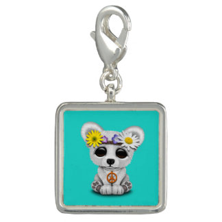 Cute Baby Polar Bear Cub Hippie Charm