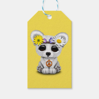 Cute Baby Polar Bear Cub Hippie Gift Tags