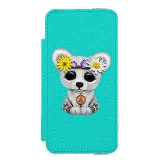 Cute Baby Polar Bear Cub Hippie Incipio Watson™ iPhone 5 Wallet Case
