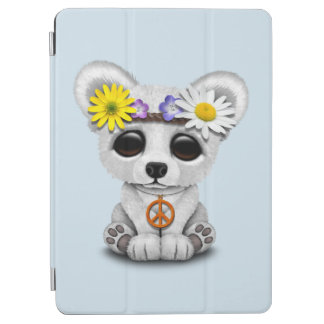Cute Baby Polar Bear Cub Hippie iPad Air Cover