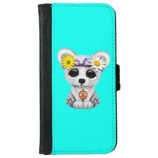 Cute Baby Polar Bear Cub Hippie iPhone 6 Wallet Case
