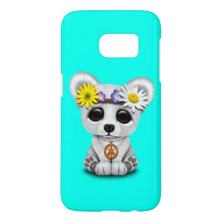 Cute Baby Polar Bear Cub Hippie Samsung Galaxy S7 Case