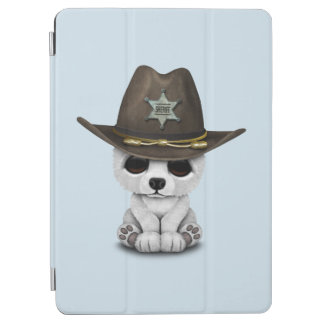 Cute Baby Polar Bear Cub Sheriff iPad Air Cover