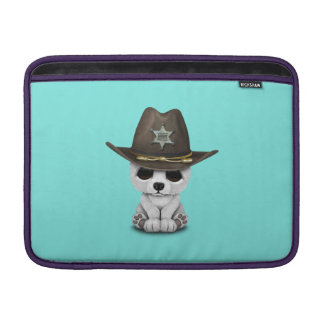 Cute Baby Polar Bear Cub Sheriff MacBook Sleeve