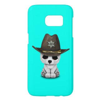 Cute Baby Polar Bear Cub Sheriff Samsung Galaxy S7 Case
