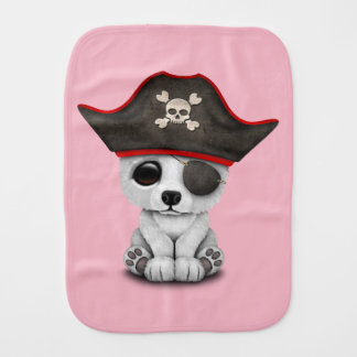 Cute Baby Polar Bear Pirate Burp Cloth